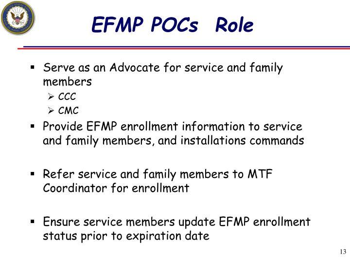 EFMP POCs  Role