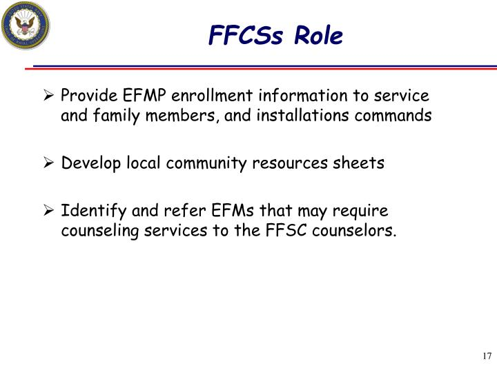 FFCSs Role
