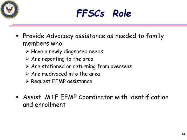 FFSCs  Role