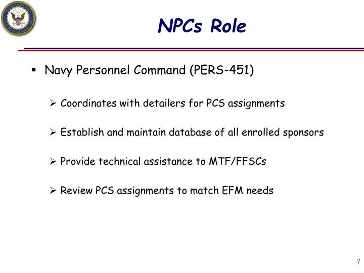 NPCs Role