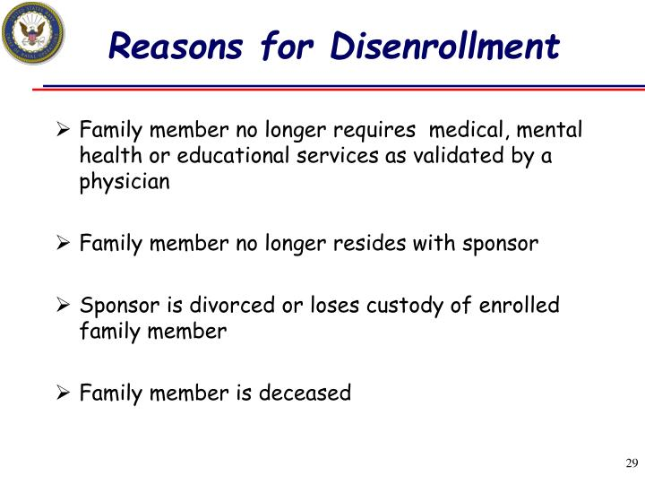 Reasons for Disenrollment