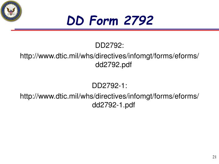 DD Form 2792