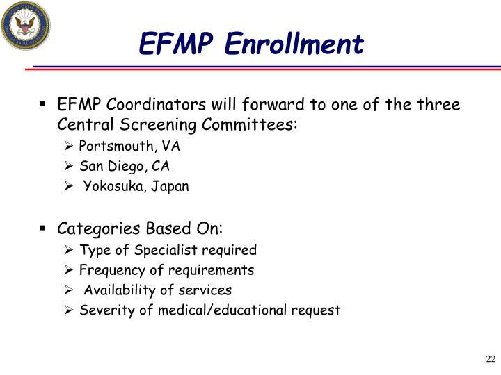 EFMP Enrollment