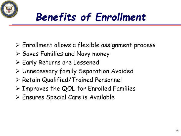 Benefits of Enrollment