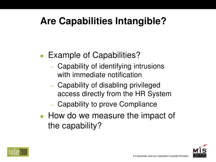 Are Capabilities Intangible?