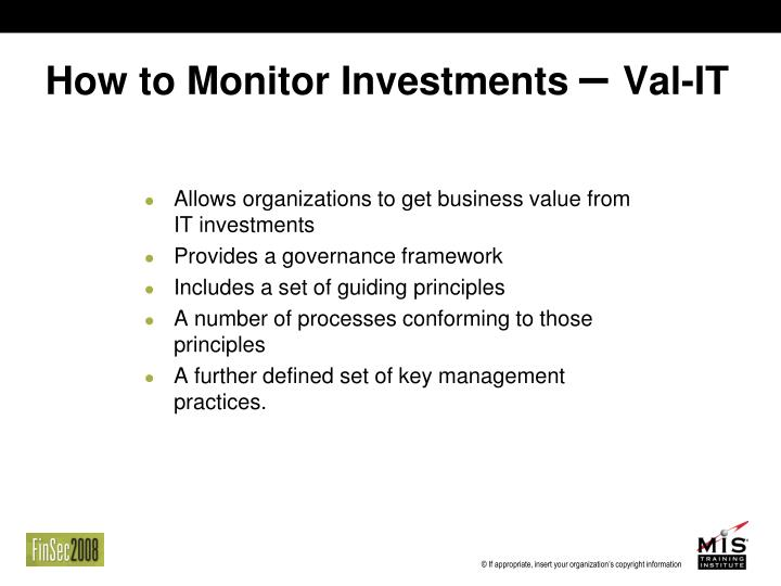 How to Monitor Investments