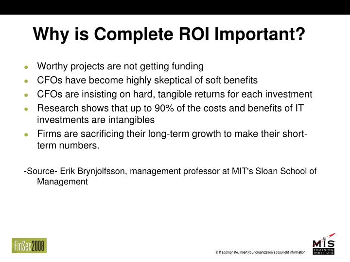 Why is Complete ROI Important?