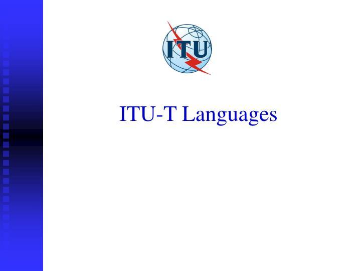 ITU-T Languages
