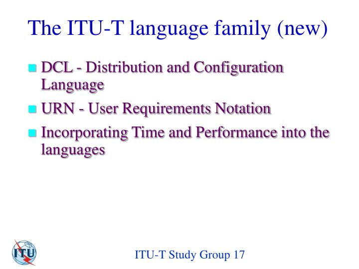 The ITU-T language family (new)