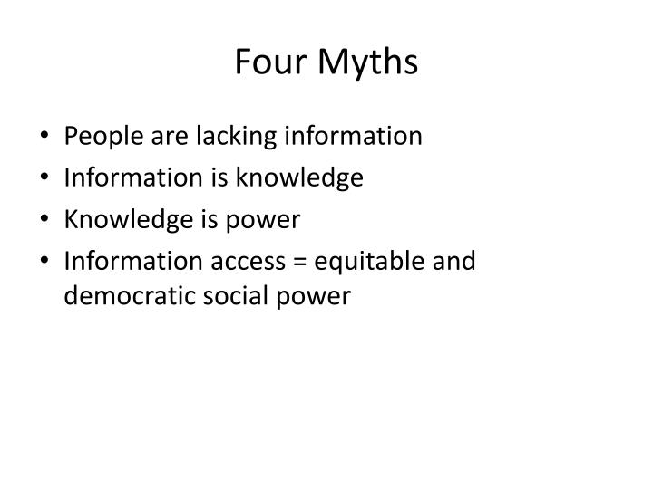 Four Myths