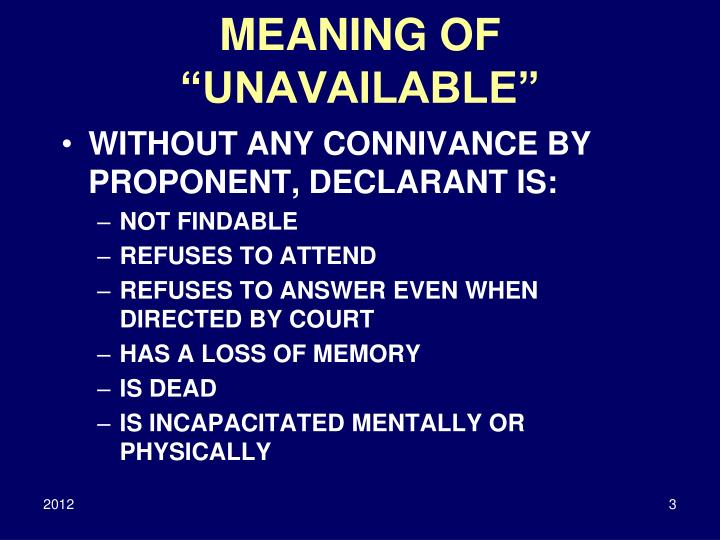 Meaning of unavailable