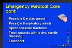 emergency medical care cont