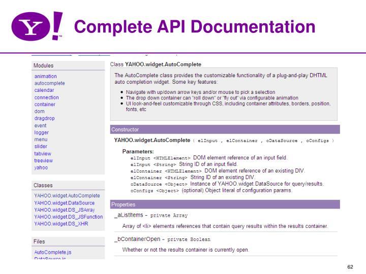 Complete API Documentation