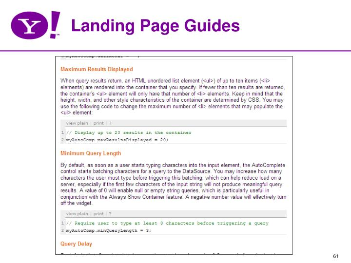 Landing Page Guides