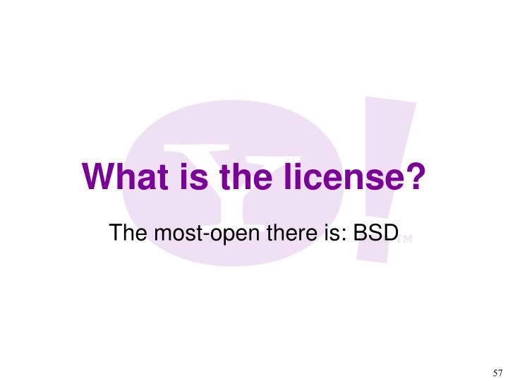 The most-open there is: BSD