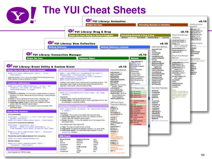 The YUI Cheat Sheets