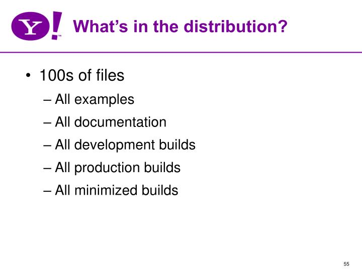 What's in the distribution?