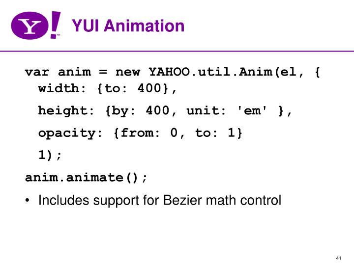 YUI Animation