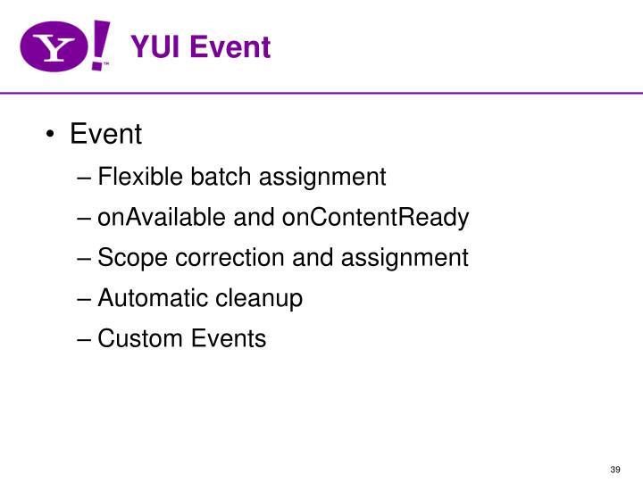 YUI Event