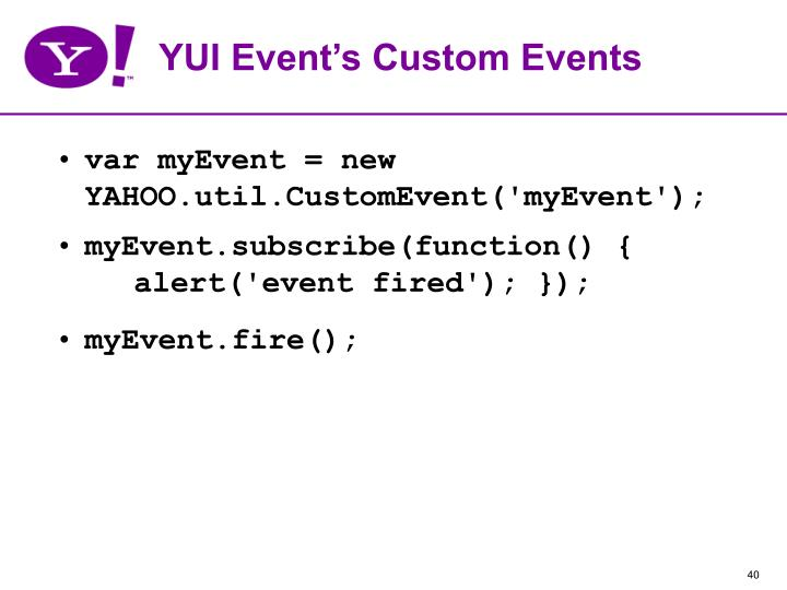 YUI Event's Custom Events