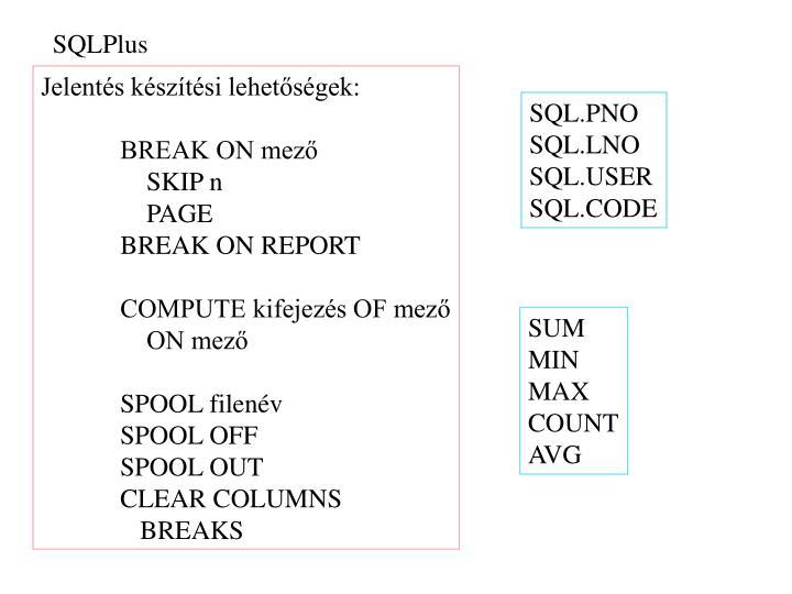 SQLPlus