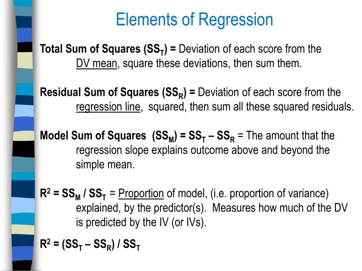 Elements of Regression