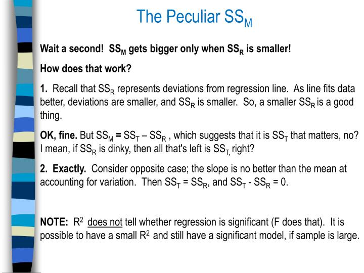 The Peculiar SS
