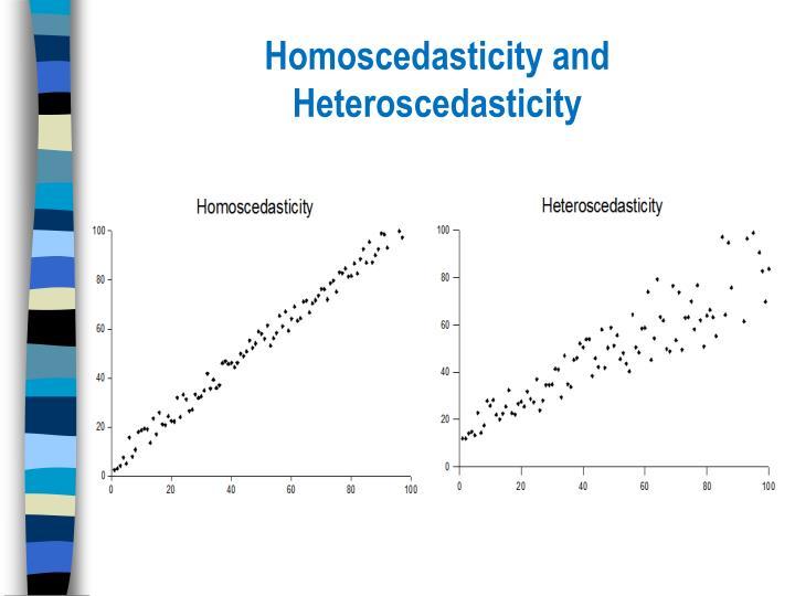 Homoscedasticity and Heteroscedasticity