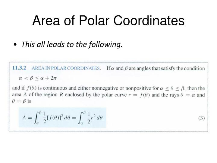 Area of Polar Coordinates