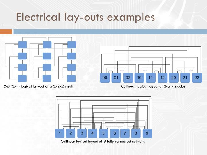 Electrical lay-outs examples