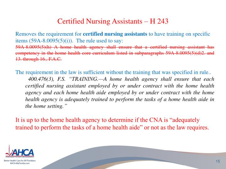 Certified Nursing