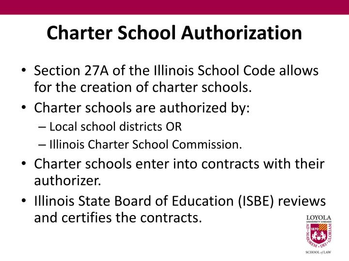 Charter school authorization