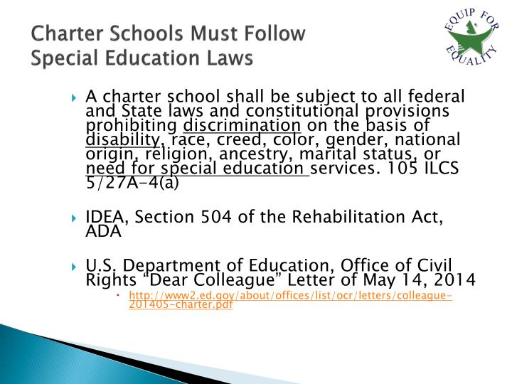 Charter Schools Must Follow