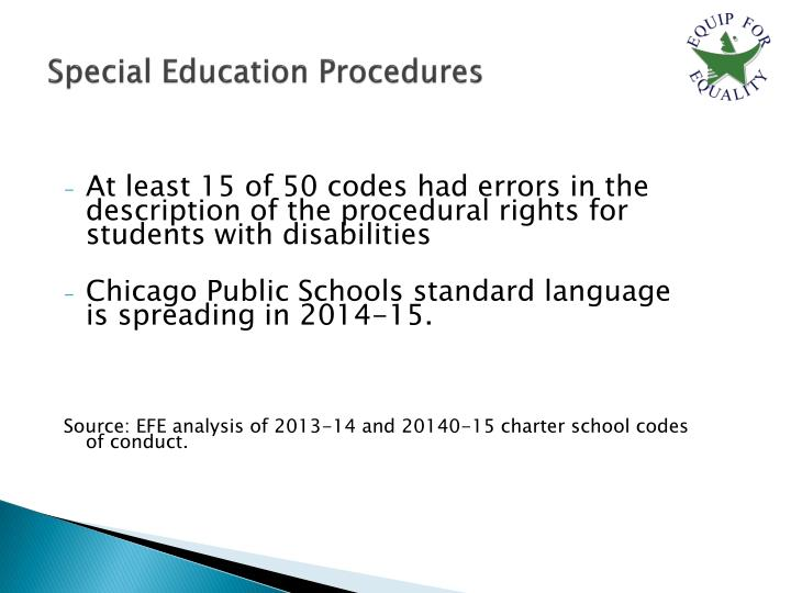 Special Education Procedures