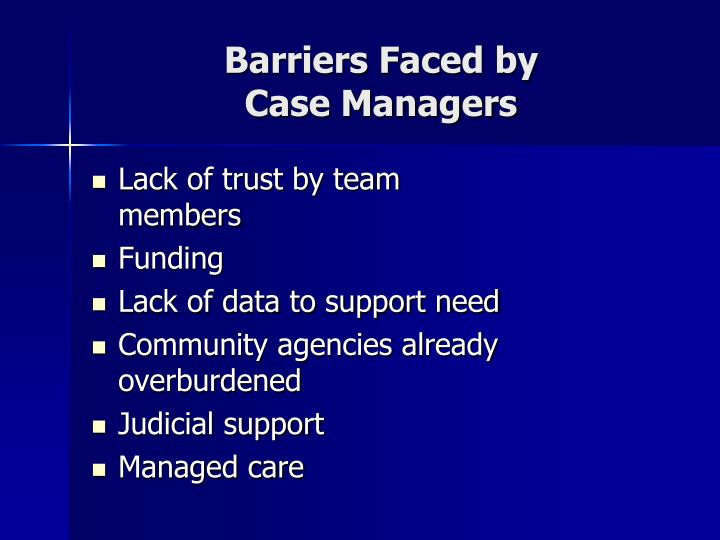 Barriers Faced by
