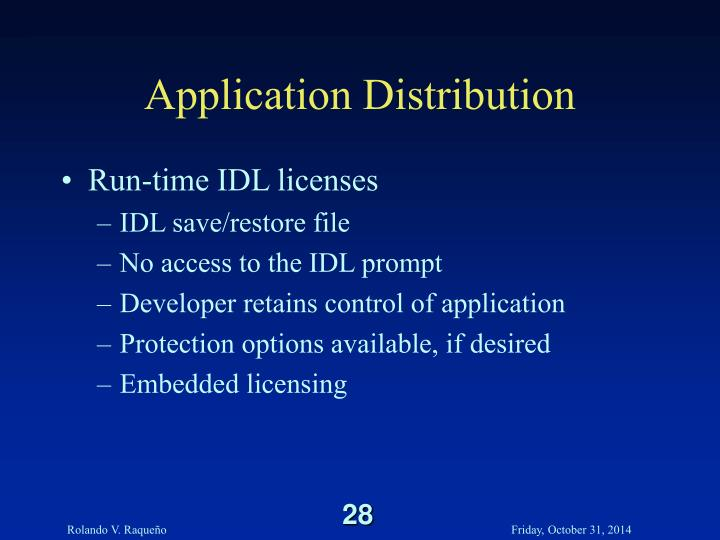 Application Distribution