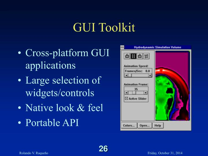 GUI Toolkit