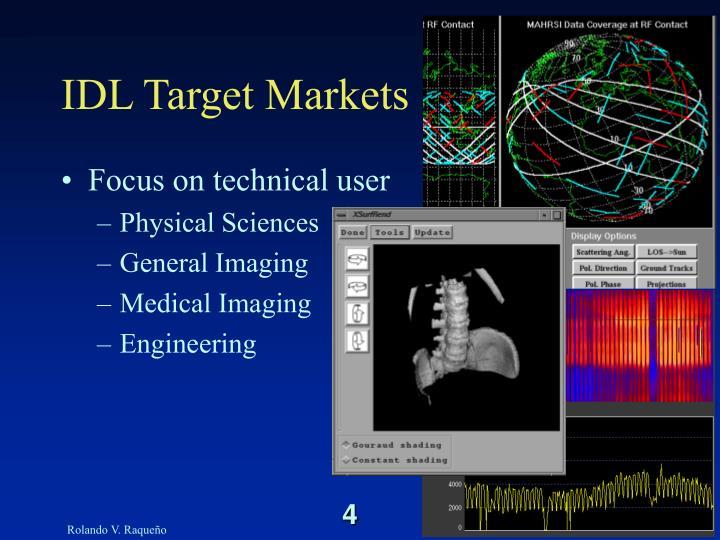 IDL Target Markets