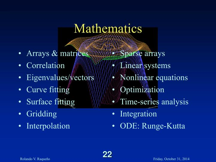 Arrays & matrices