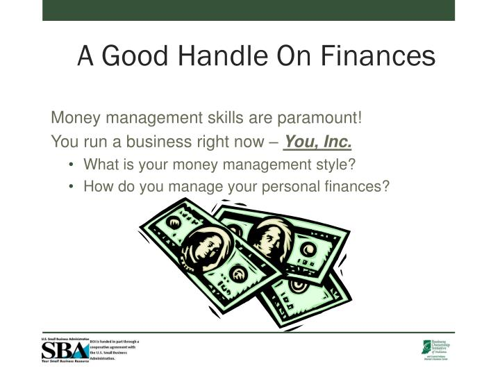 A Good Handle On Finances