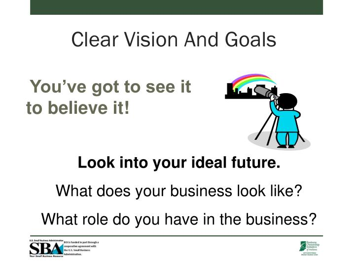 Clear Vision And Goals