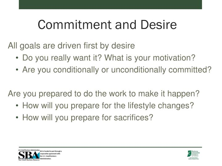 Commitment and Desire