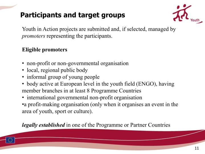 Participants and target groups