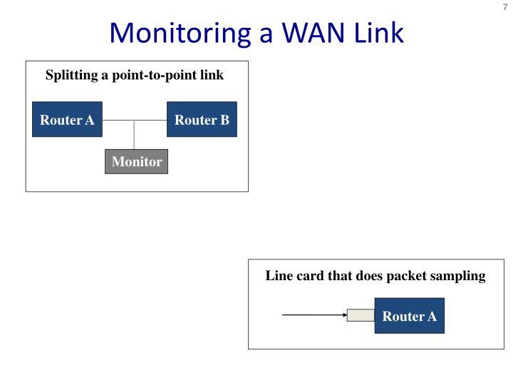 Monitoring a WAN Link