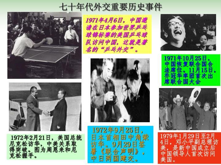 七十年代外交重要历史事件