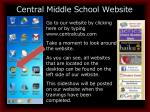central middle school website