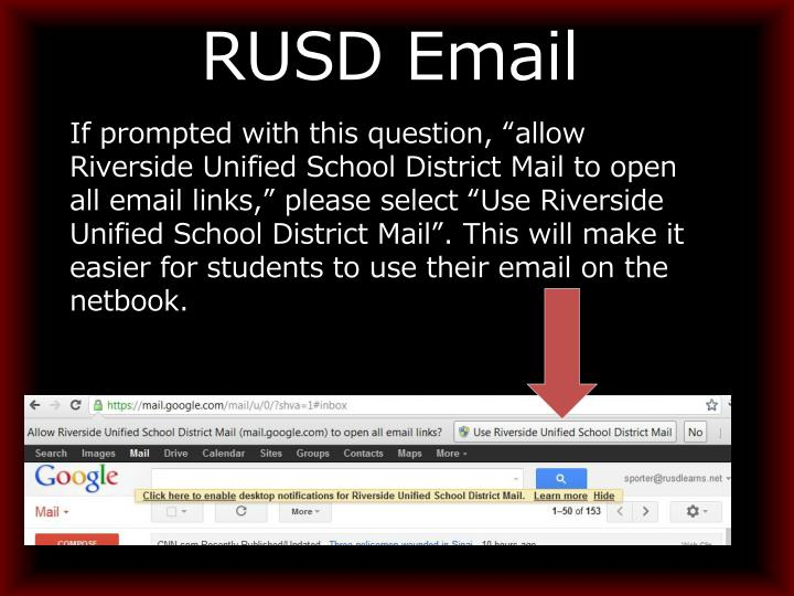 RUSD Email