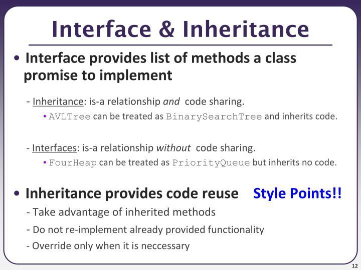 Interface & Inheritance