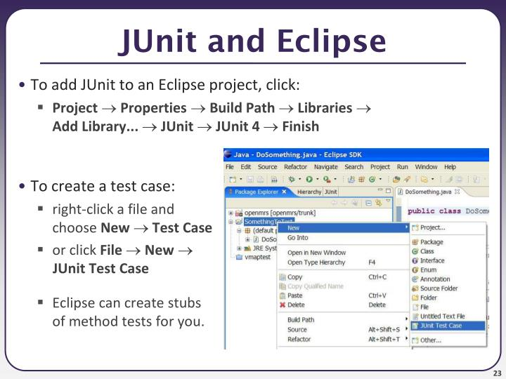JUnit and Eclipse