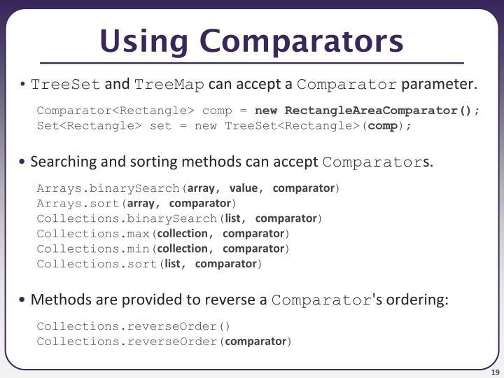 Using Comparators